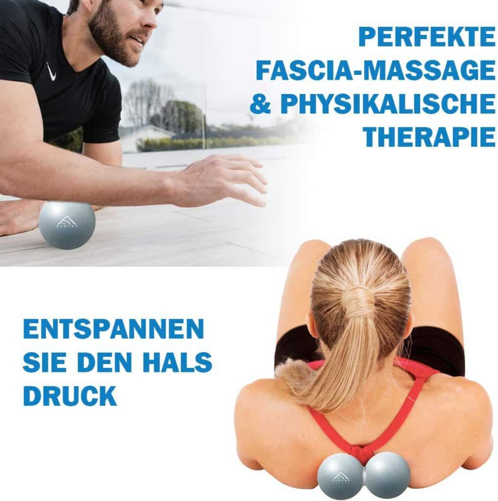 Massageball Anwendung